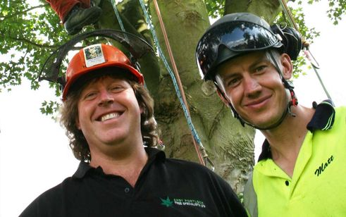 Two team members at Andy Portlock Tree Specialists Ltd